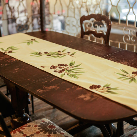 Olivie Handpainted Table Runner