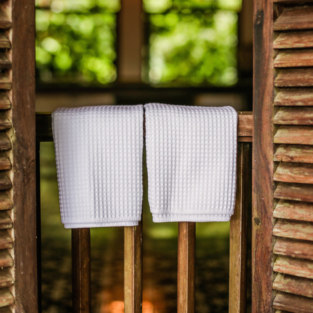 Waffle Hand Towels Set of 2