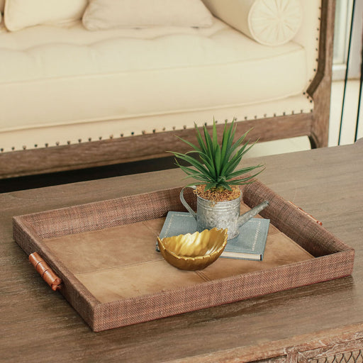 Roselin Suede Serving Tray