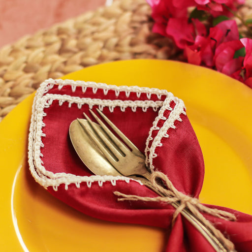 Lourdes Linen Table Napkins Set of 4