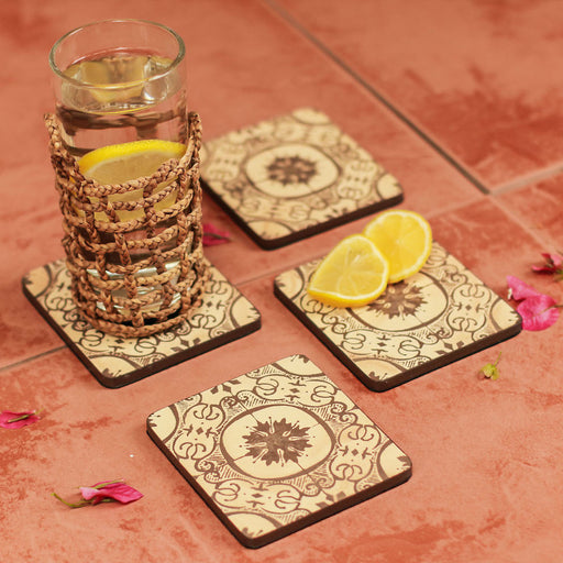 Catalina Wooden Coasters Set of 4