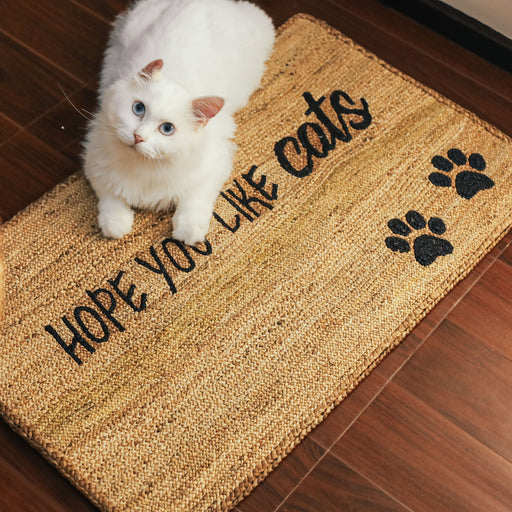 "'Hope You Like Cats"" Doormat"
