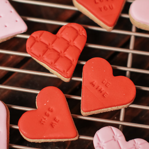 Mini Hearts Butter Cookies ( Set of 6 )
