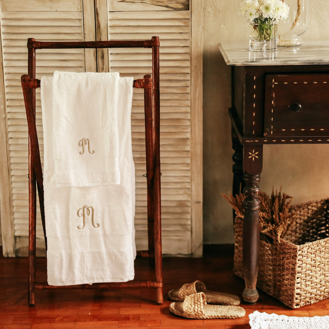 Personalized Terry Cotton Bathroom Towel Set of 2