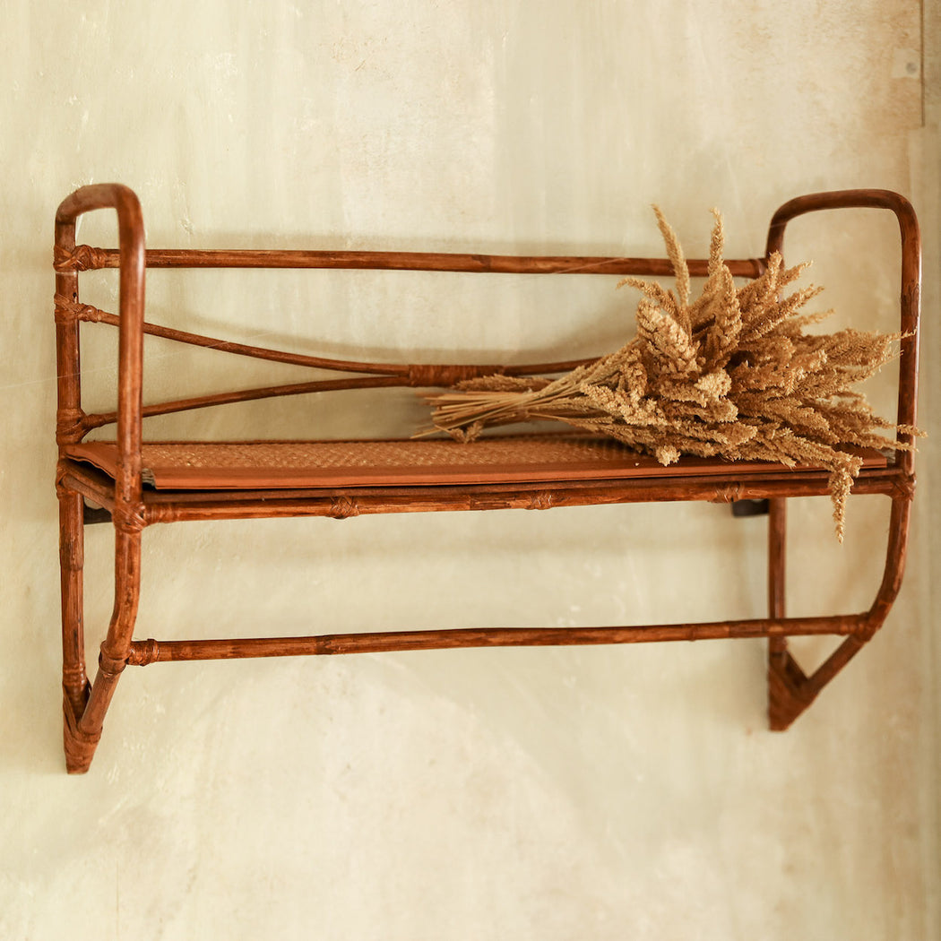 Soraya Rattan Wall Shelf & Towel Rack