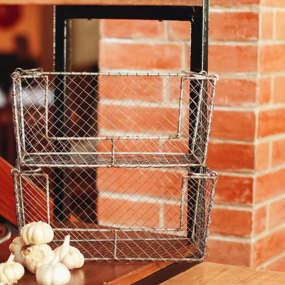 Bernard Stackable Pantry Wire Basket