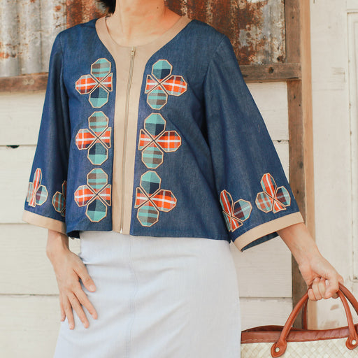 Elena Embroidered Jacket - Patadyong
