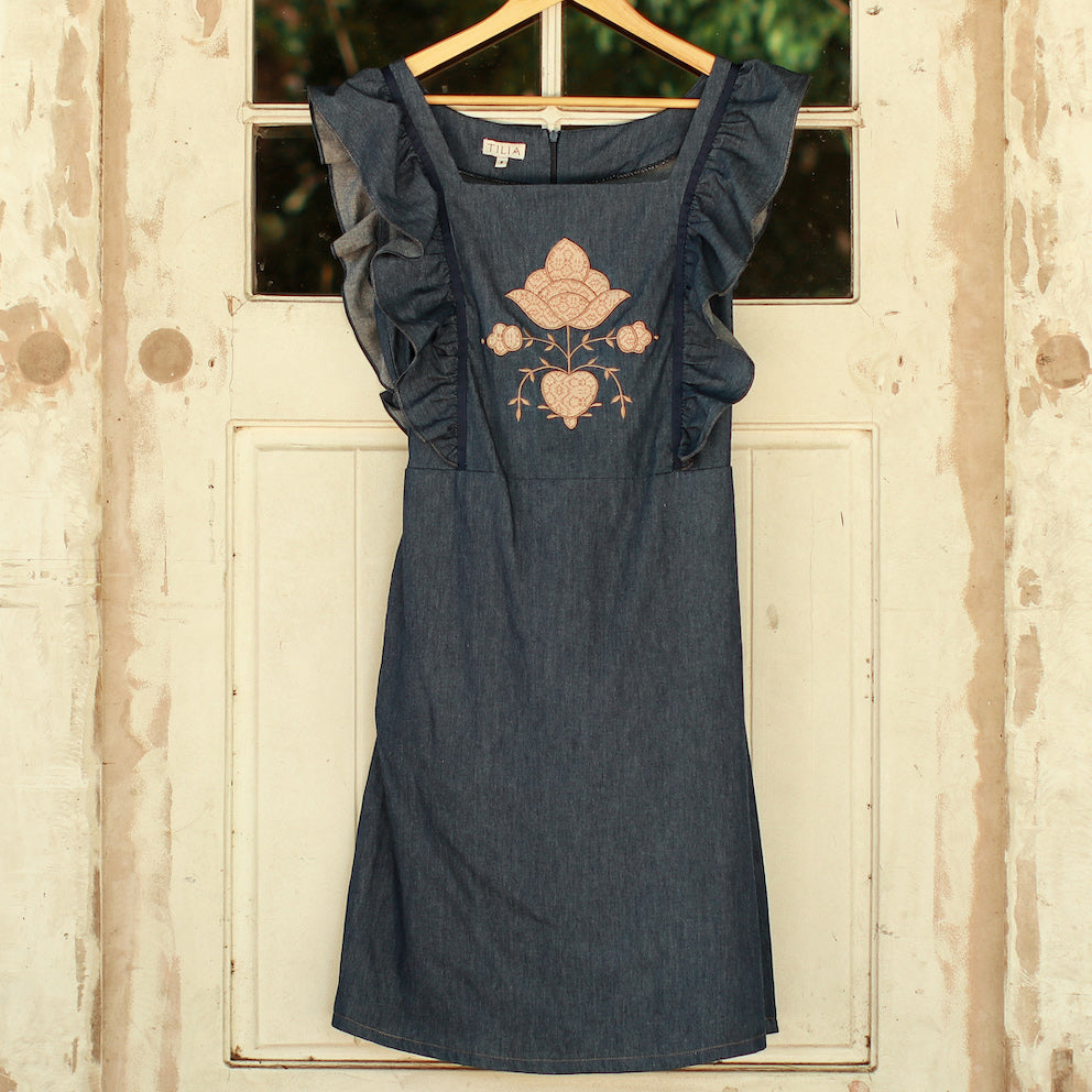 Frida Apron Dress - Denim