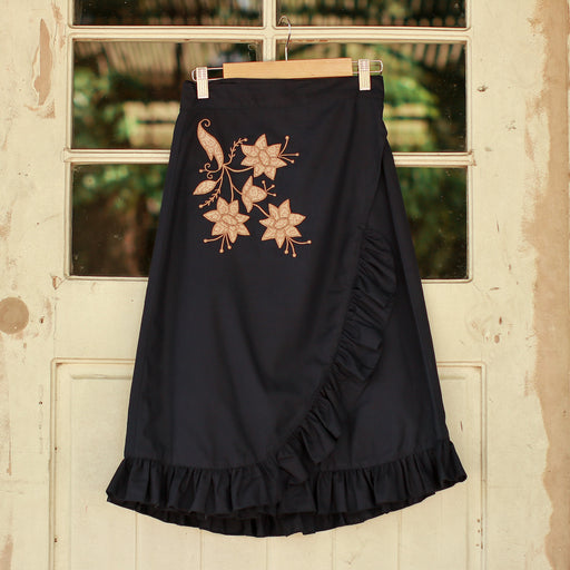 Cecille Wrap Around Skirt - Midnight Blue