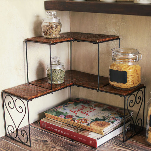 Valeria Corner Stackable Shelves Set of 2