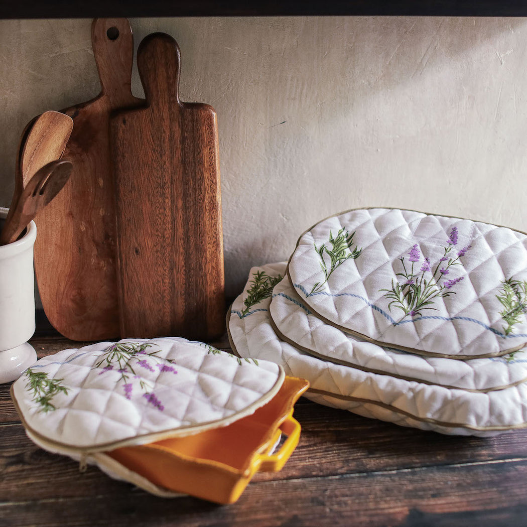 Julia Quilted Platter Storage Case   Set of 10