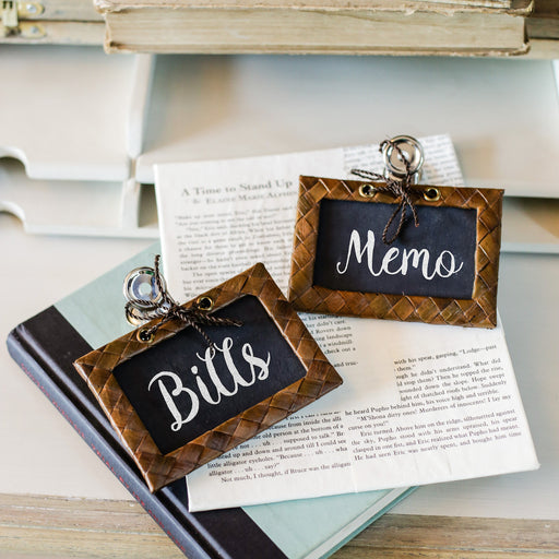 Marché Paper Clip Chalkboard Label Set of 2