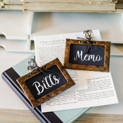 Marché Paper Clip Chackboard Label Set of 2