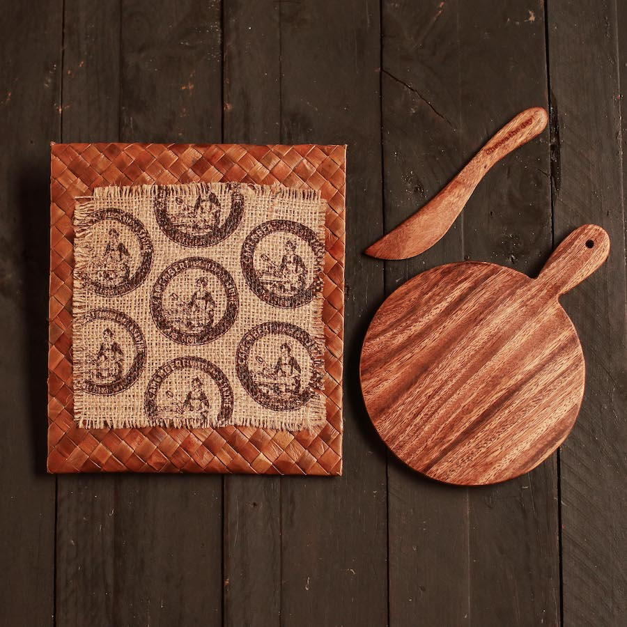 """Cheese the day!"" Mini Cheese Board Set"