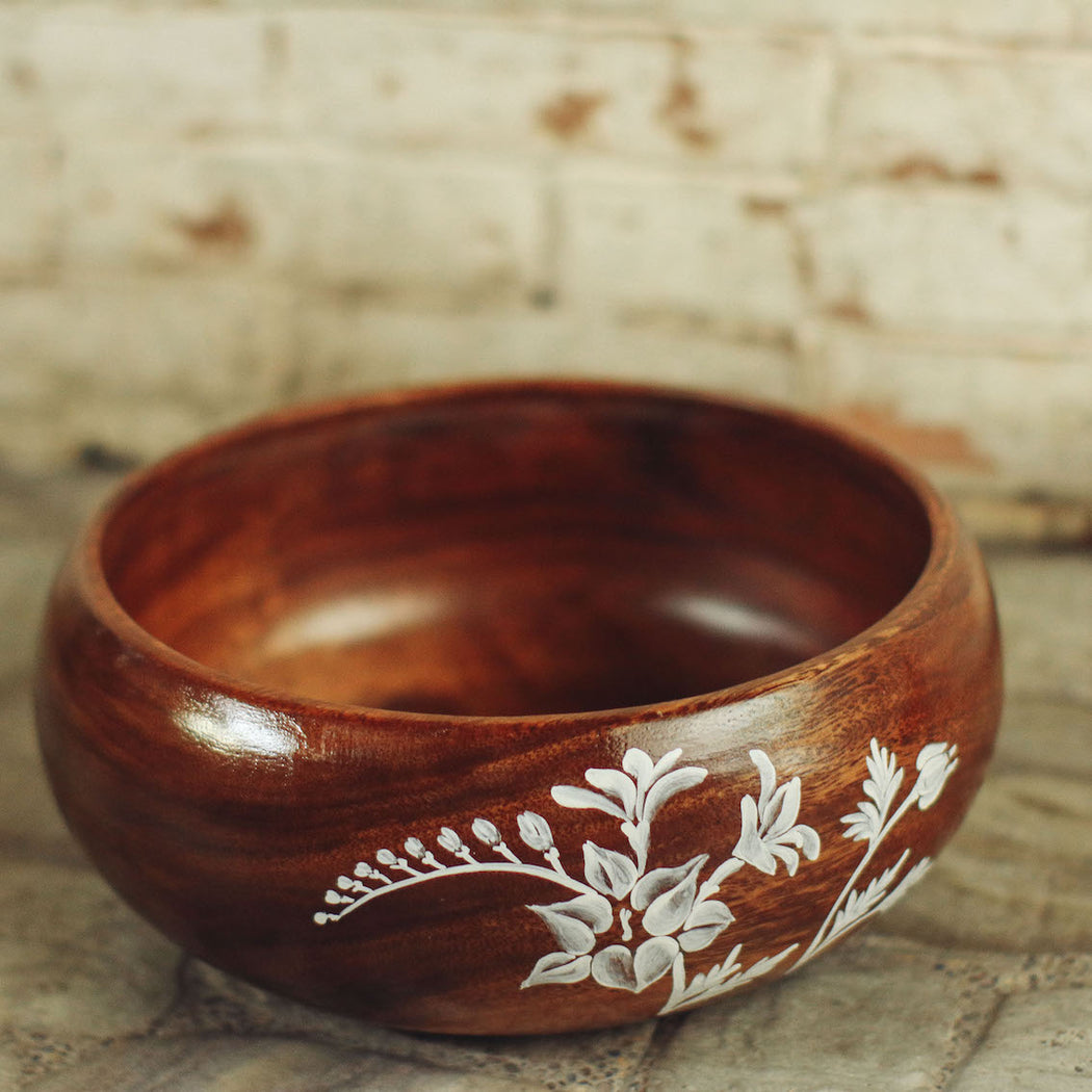 Isabelle Wooden Serving Bowl