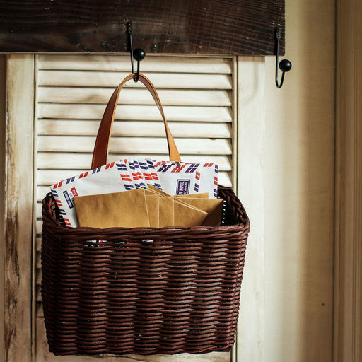 Sample Sale W - Wicker Mail Caddy