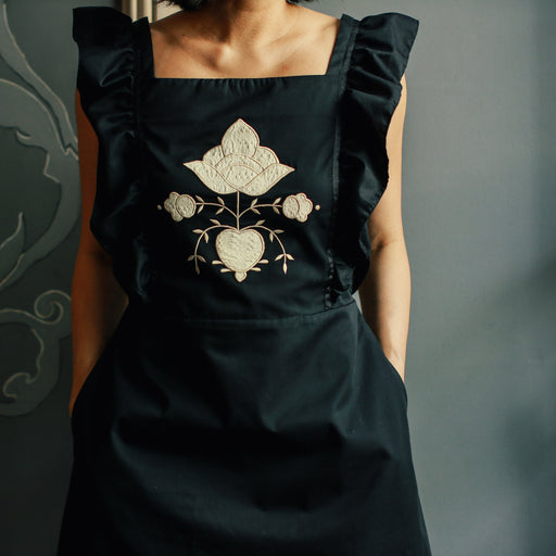 Frida Apron Dress - Black