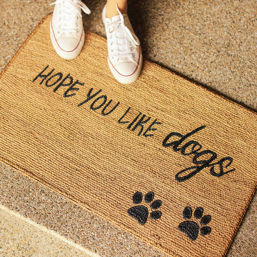 "'Hope You Like Dogs"" Doormat"