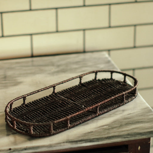 Sample Sale D- Abaca Wire Tray