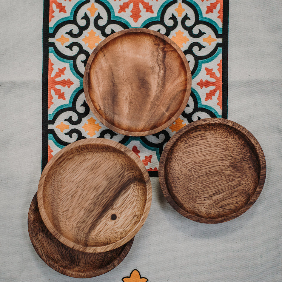 Almira Mini Wooden Tapas Plate Set of 4