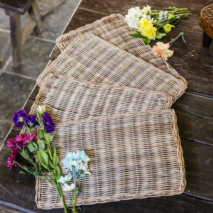 Lily Wicker Placemat Set of 4