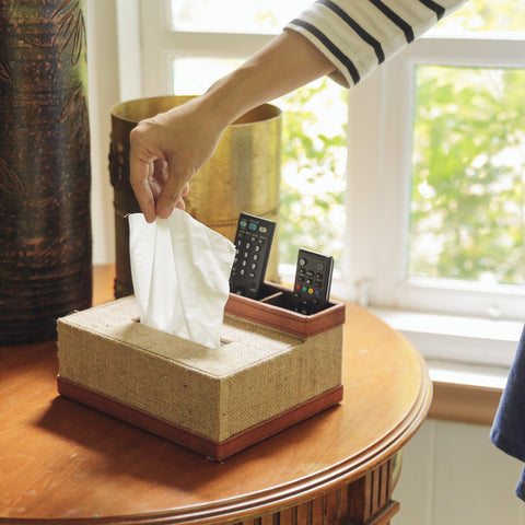 Dillon Remote Control & Tissue Caddy