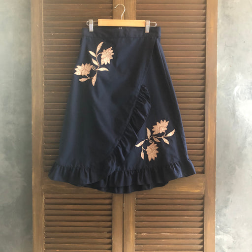 Audrey Wrap Around Skirt - Midnight Blue