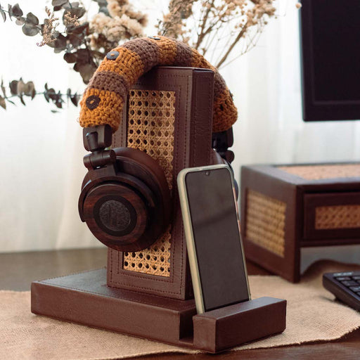 Keeps your tech gadgets within reach and your desk clutter-free. A stand for both your headset and mobile phone. Aesthetically pleasing while seamlessly blending in with your home office interiors. Practical organizing accessories to help set up your office as we safely work from home. Available online through Domesticity.