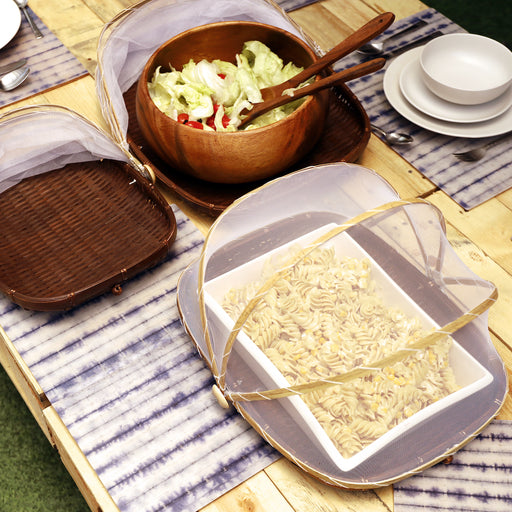 Our food tray comes with a mesh cover that protects dishes from pesky insects, falling leaves and dust. Dining accessory you can use for both indoors and outdoors. Available online in the Philippines.