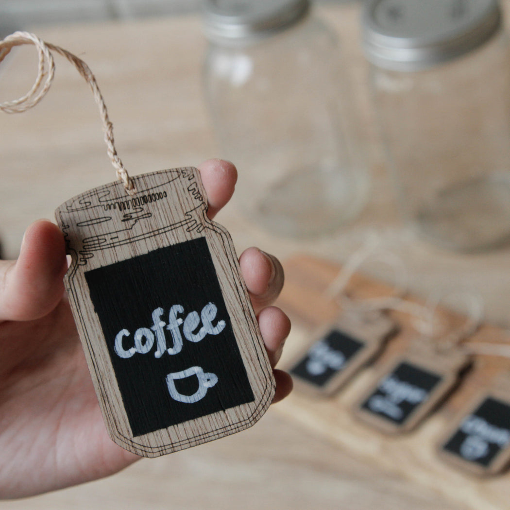 Mason Jar Chalkboard Labels