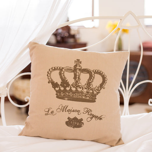 La Maison Royale Throw Pillow Cover