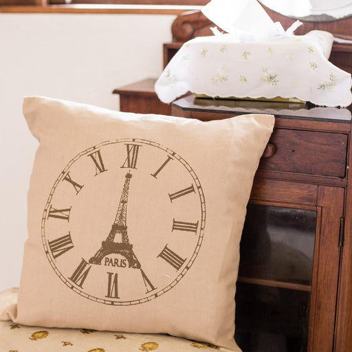 Eiffel Tower Throw Pillow Cover