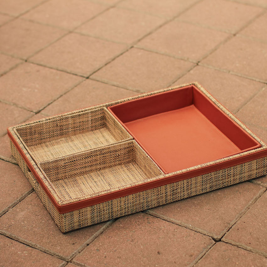 Sample Sale - Saguran & Abaca Multipurpose Tray Set of 4
