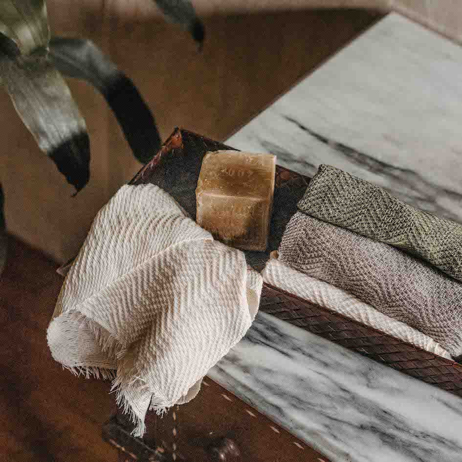 Silvia Handloomed Hand Towel Set of 2