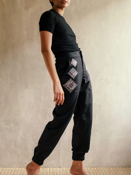 Allegra Jogger Pants - Black