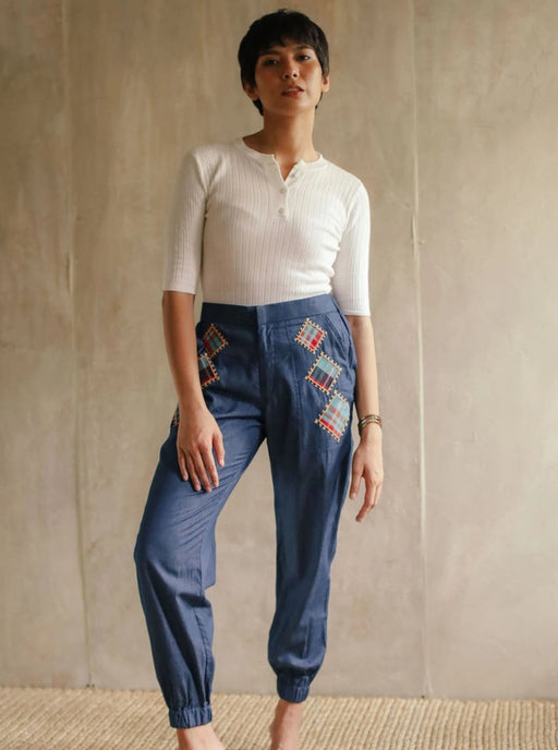 Allegra Jogger Pants - Denim