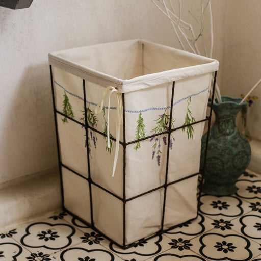 Bouquets of Herbs Laundry Hamper