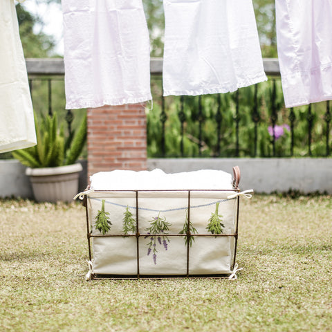 Bouquets of Herbs Laundry Bin