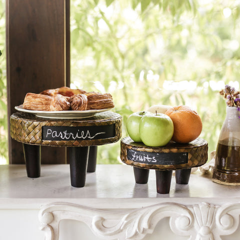 Carine Food Pedestal with Chalkboard
