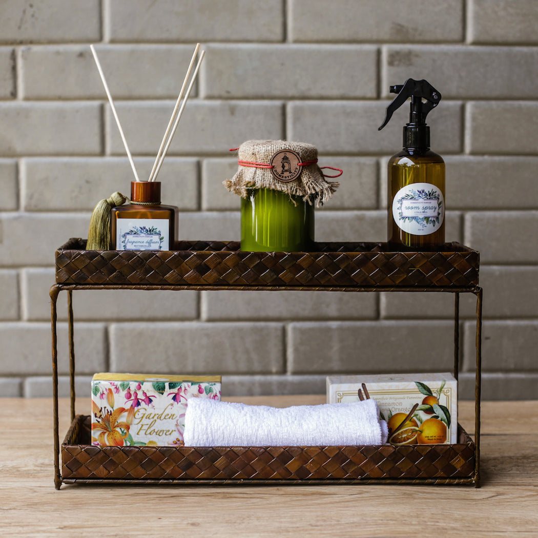 Felicia Bathroom Tray 2-tier