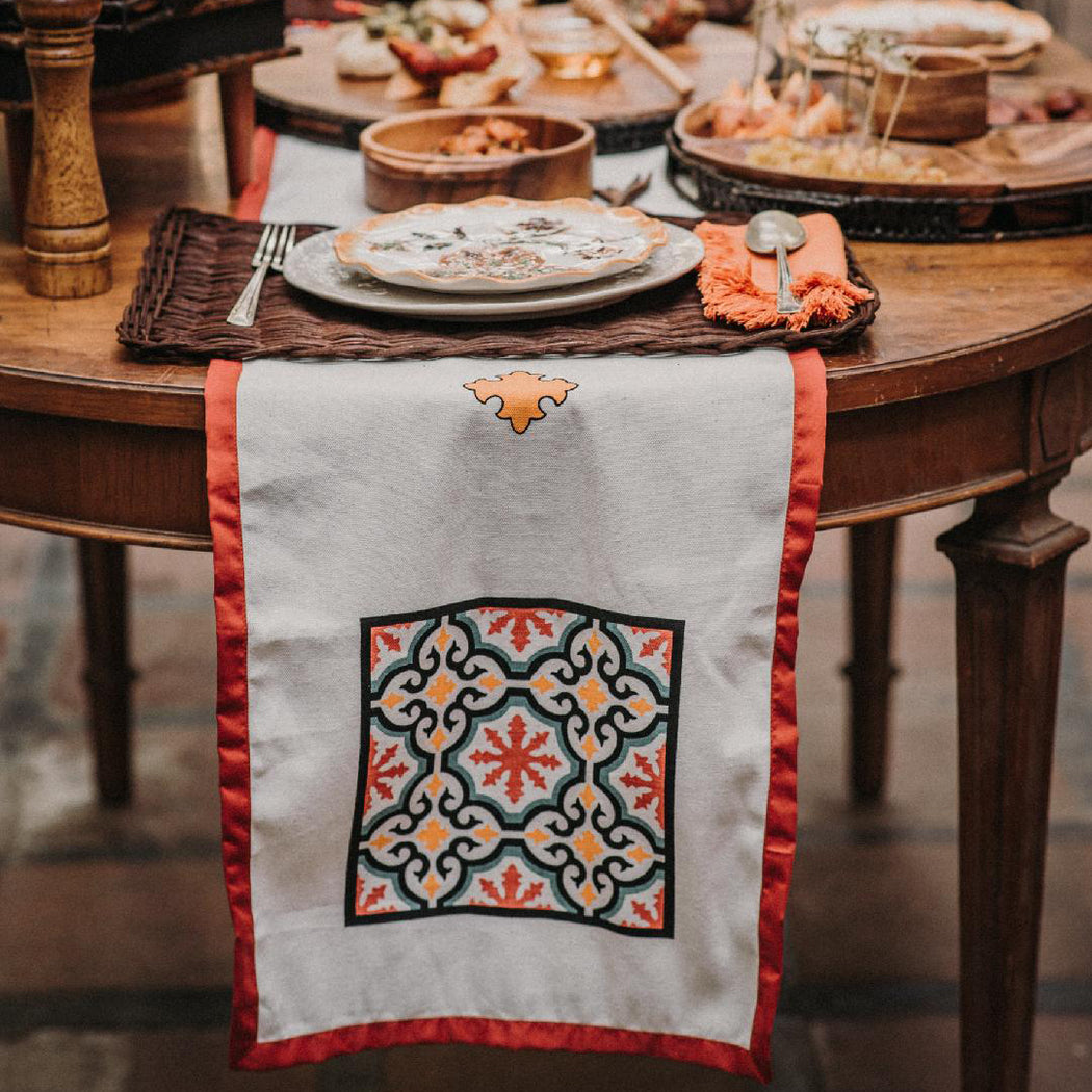 Almira Hand-Painted Table Runner