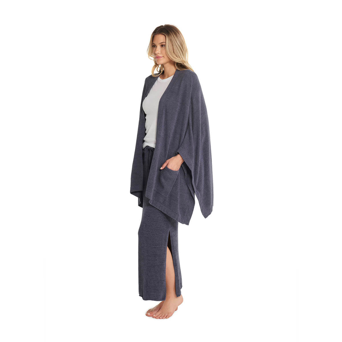 Barefoot Dreams the Cozy Chic Ultra Lite® Kimono Wrap Pacific Blue