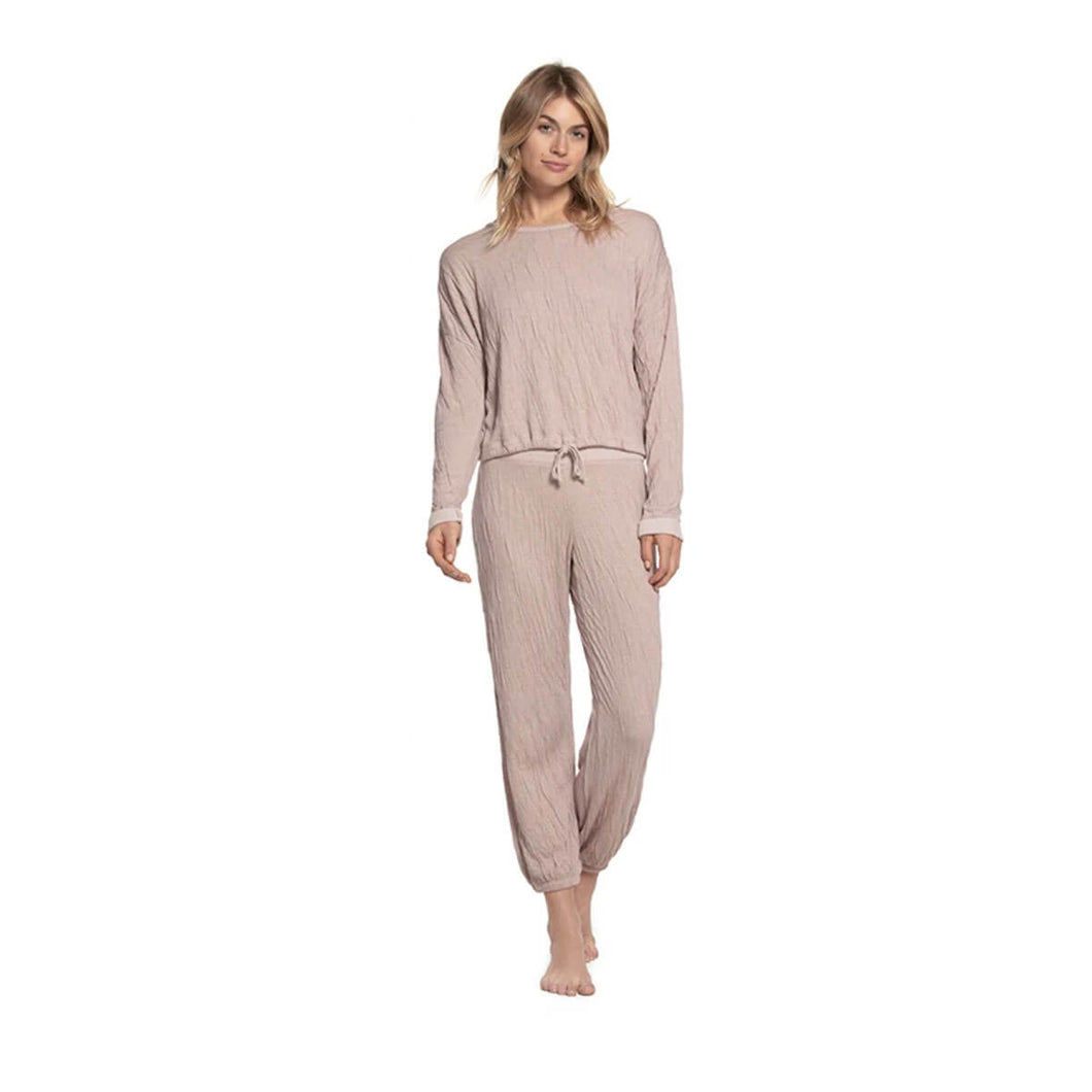 Barefoot Dreams Malibu Collection Women's Crinkle Jersey Lounge Set