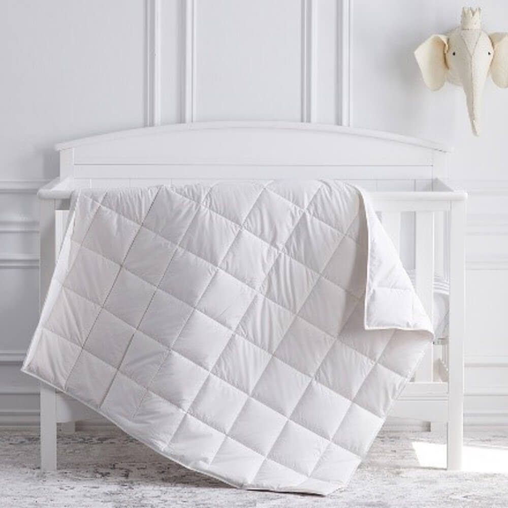 Scandia Siesta European White Goose Down Crib Comforter