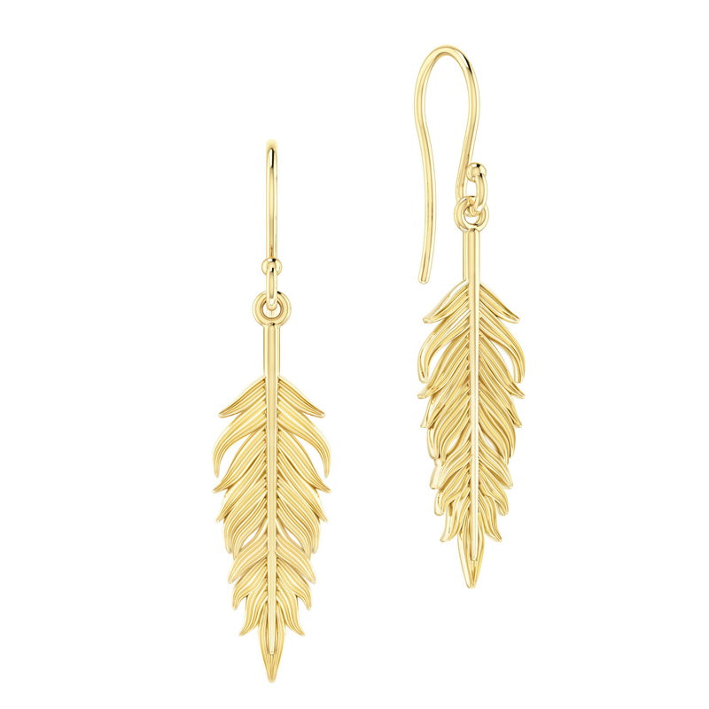 Raven Feather Earrings