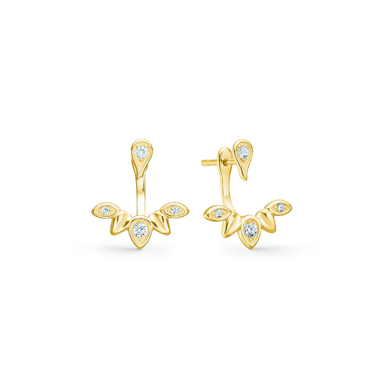 Magnolia Backdrop Earstuds - Gold