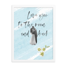 Load image into Gallery viewer, Love you to the moon and back ~light blue~