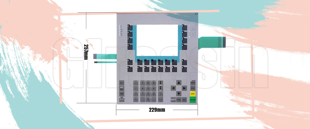 Membrane Keypad for Siemens SIMATIC HMI C7-635 KEY