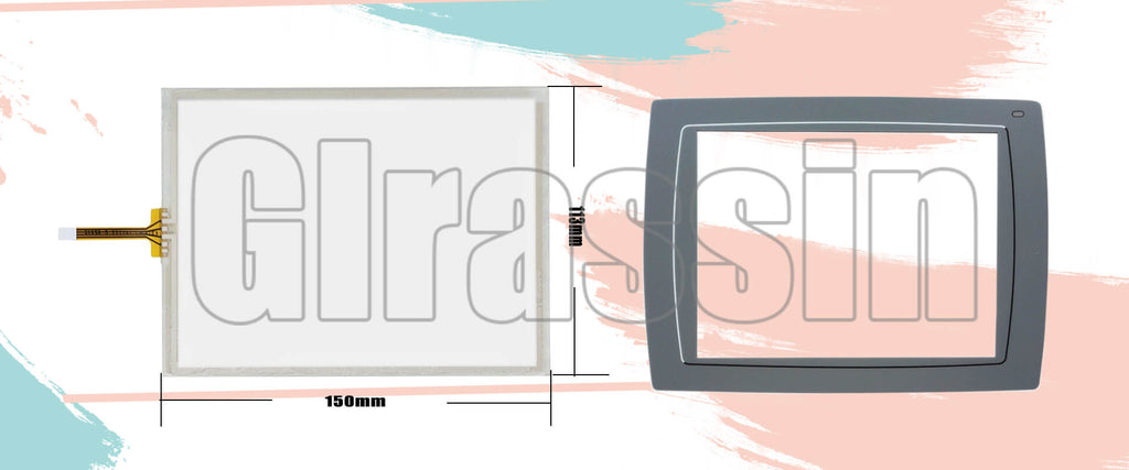 Touch Screen and Protective Flim for Beijer HMI E1071 603221116 Replacement