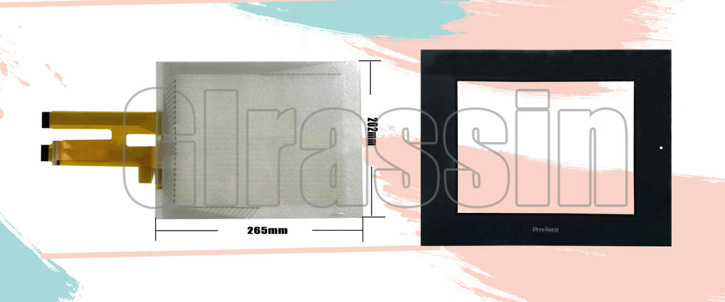 Touch Screen and Overlay for Proface HMI GP2500-TC/SC/LG41-24V Repair Replacement